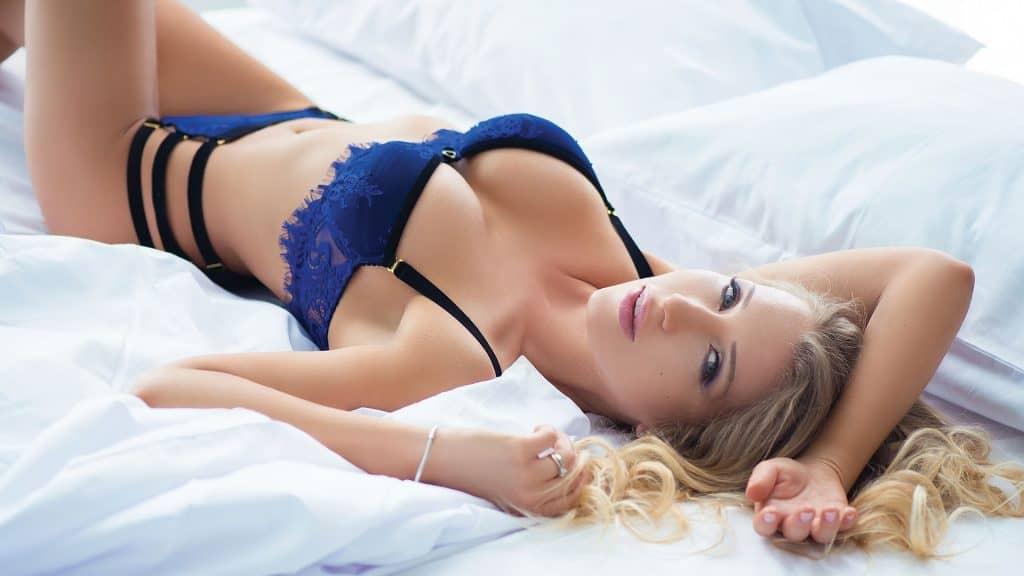 Chase Entertainment - Female Stripper in Blue Lingerie